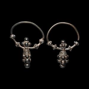 Varangian Silver Earring Pair