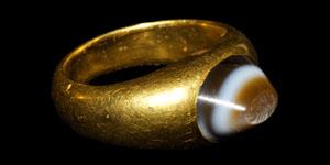Sassanian Scorpion Intaglio Gold Ring