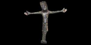 Medieval Bronze Crucifix Mount