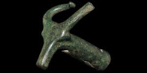 Celtic Bronze Bulls Head Finial