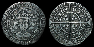 English Medieval - Henry VI - Rosette Mascle - Groat - Calais