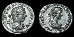 Roman Elagabalus and Caracalla - Rome - Denarii [2]