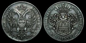 German States - Hamburg - Charles VI 1730 IHL - Thaler