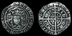 English Medieval - Henry VI - Rosette Mascle Issue - Halfgroat - Calais