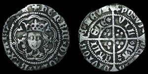 English Medieval - Henry VI - Rosette Mascle Issue - Halfgroat - Calais