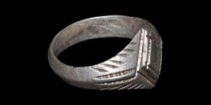 Medieval European Silver Engraved Ring
