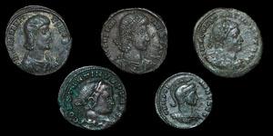 Roman Empire - Five Late Bronzes