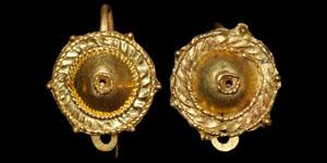Roman Pair of Tutullus Gold Earrings