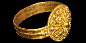 Byzantine Gold Filigree Ring
