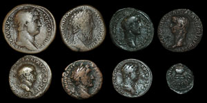 Roman Empire - Eight Early Bronzes