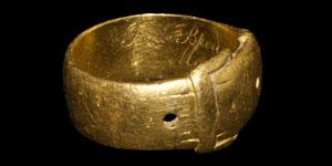 Post Medieval Bendigo (Australia) Goldfields Gold Buckle Ring