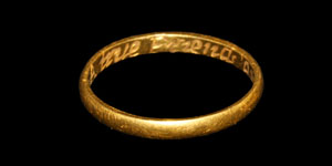 Post Medieval A true Friends gift Gold Posy Ring