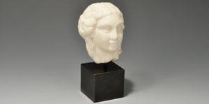 Roman Marble Head of a Female