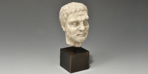 Roman Marble Bearded Male Bust