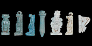 Egyptian Green and Blue Composition Amulets