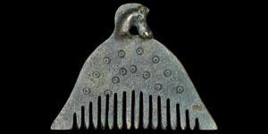 Bronze Age Parthian Bronze Horse-Head Comb