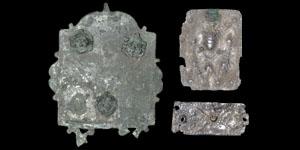Roman Silver Repoussé Plaques and Bronze Plate