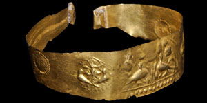 Greek Gold Repouse Arm Band