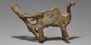 Bronze Age Bronze Amorite Man and Camel Statuette