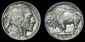 World USA - 1913 San Franciso - Buffalo/Line Nickel