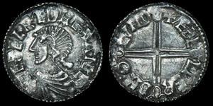Saxon Aethelred II - London/Aethelwerd - Long Cross Penny