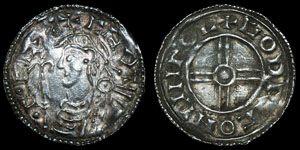 Saxon Cnut - Lincoln/Godric - Short Cross Penny