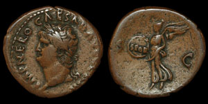 Roman Empire - Nero - AE As