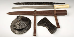 Anglo-Saxon Grave Assemblage - Short Sword (and Replica), Shield Boss and Axe
