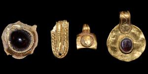 Saxon Gold Pendants and a Strip Fragment