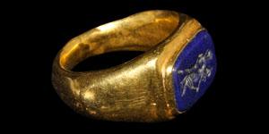 Roman Erotic Intaglio Gold Ring