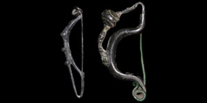 Celtic Bronze One-Piece Brooches