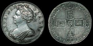 English Milled Anne - 1702 - VIGO Shilling
