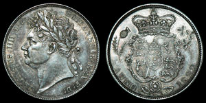 English Milled George IV - 1820, 1825 and 1822 - Halfcrown, Sixpence and Threepence [3]