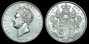 English Milled George IV - 1826, 1826 and 1828 - Halfcrown, Shilling and Sixpence [3]