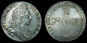 English Milled William III - 1695 Octavo - Crown