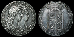 English Milled William and Mary - 1689 - Halfcrown