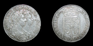 English Milled William and Mary - 1693/03 - Shilling
