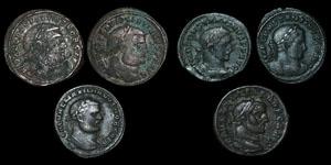 Roman Empire - Six Bronze Folles