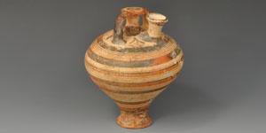 Greek Mycenaean Painted Stirrup Jar