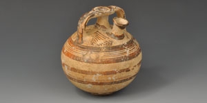 Greek Mycenaean Painted Stirrup Jar