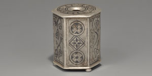 Roman Silver and Niello Inkwell