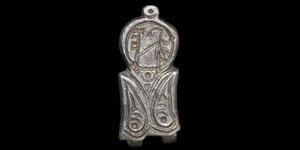 Byzantine Monogrammed Silver Buckle Plate