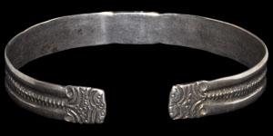 Medieval Silver Engraved Bracelet