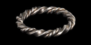 Medieval Silver Double Twist Ring