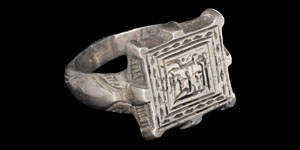 Medieval Silver Engraved Ring