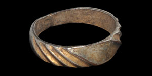 Tudor Silver-Gilt Facetted Ring