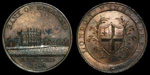 18th Century Kempson - Bank of England - Token Penny