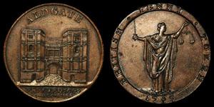 18th Century Kempson - Aldgate - Token Penny