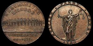 18th Century Kempson - Westminster Bridge - Token Penny