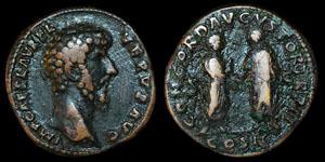 Roman Lucius Verus - Rome - Sestertius